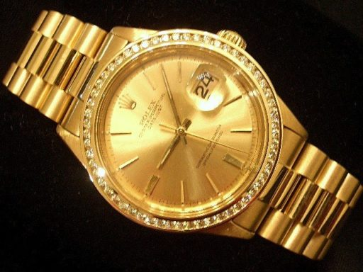 Rolex 18K Yellow Gold Datejust 1601 Champagne Diamond-5