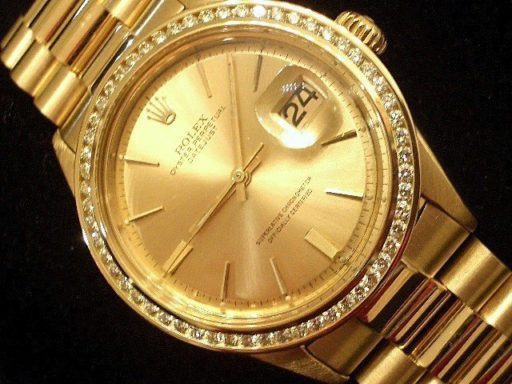 Rolex 18K Yellow Gold Datejust 1601 Champagne Diamond -4