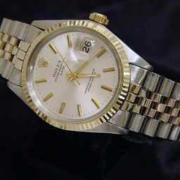 Pre Owned Mens Rolex Two-Tone Date with a Silver Dial 1505 (SKU 2282908M)