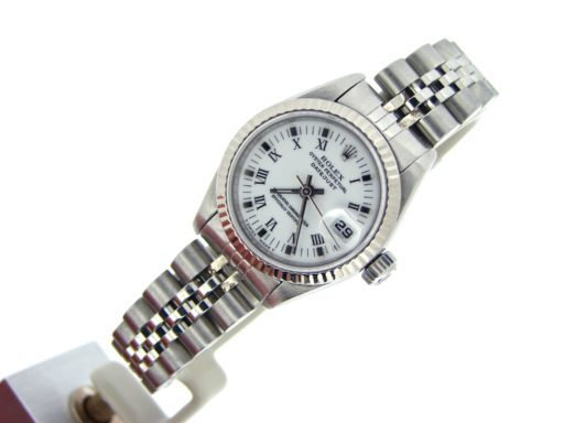 Rolex Stainless Steel Datejust 69174 White Roman-4