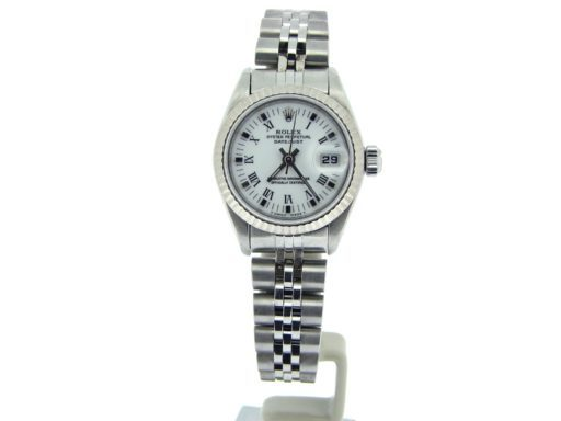 Rolex Stainless Steel Datejust 69174 White Roman-5