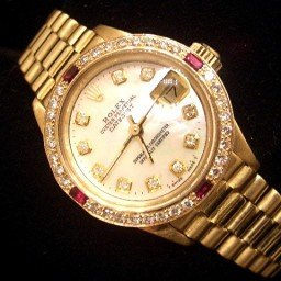Ladies Rolex 18K Yellow Gold Datejust President White Diamond 6917