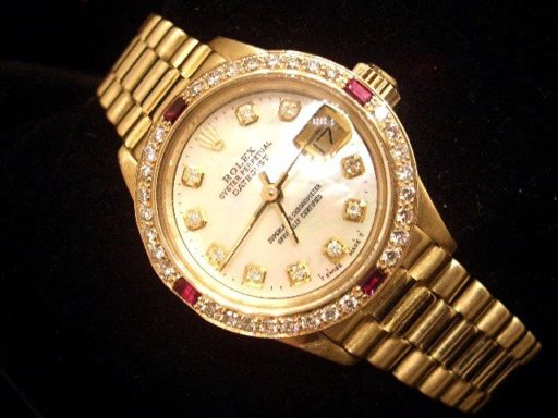 Rolex Yellow Gold Datejust President Diamond 6917 White-6