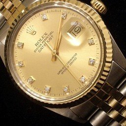 Mens Rolex Two-Tone 18K/SS Datejust Champagne Diamond 16013 (SKU 7931111BNNMT)