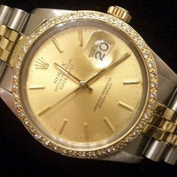 Mens Rolex Two-Tone 18K/SS Datejust Champagne  Diamond 16013 (SKU)