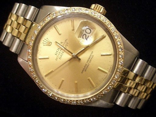 Rolex Two-Tone Datejust 16013 Diamond