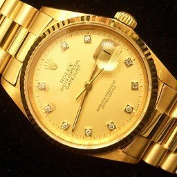 Pre Owned Mens Rolex Yellow Gold Datejust with a Gold Diamond Dial 16018 (SKU 1801111M)