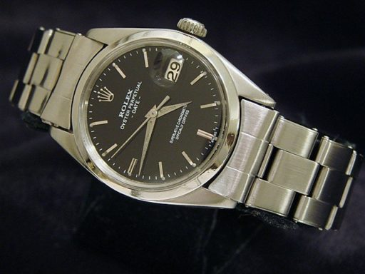 Rolex Stainless Steel Date 1500 Black -5