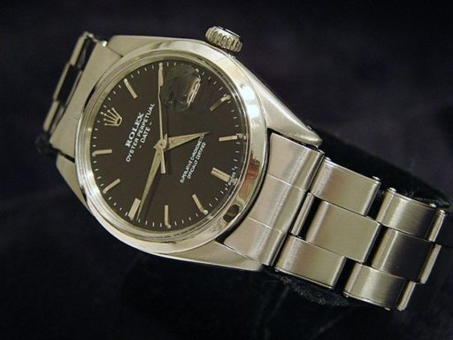 Rolex Stainless Steel Date 1500 Black -4