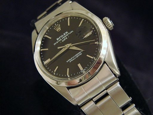 Rolex Stainless Steel Date 1500 Black -3