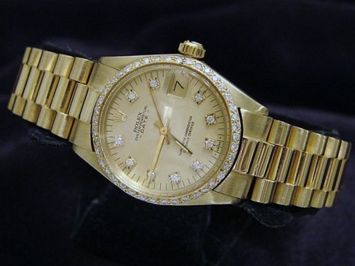 Rolex Yellow Gold Date President Diamond 6827 Champagne-7