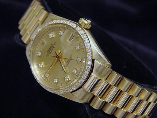Rolex Yellow Gold Date President Diamond 6827 Champagne-6
