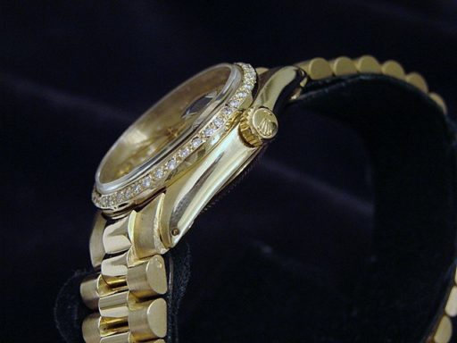 Rolex Yellow Gold Date President Diamond 6827 Champagne-3