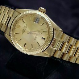 Pre Owned Mid-Size Rolex Yellow Gold Datejust President Gold Champagne 6827