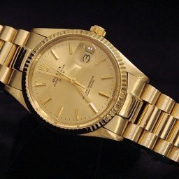 Pre Owned Mens Rolex Yellow Gold Date with a Gold Champagne Dial 15037 (SKU 8994615B)