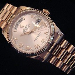 Mens Rolex 18K Gold Day-Date President Rose Roman 118235