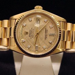 Mens Rolex 18K Gold Day-Date President Champagne Diamond 18038 (SKU 9831111MT)