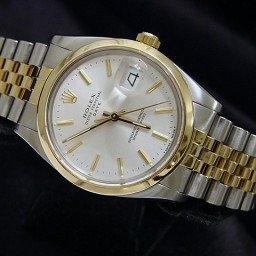 Pre Owned Mens Rolex Two-Tone Date with a Silver Dial 15053 (SKU 8315898)