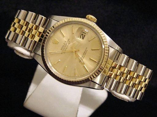 Rolex Two-Tone Datejust 16013 Champagne -5