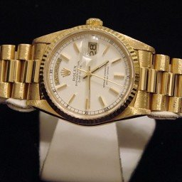 Mens Rolex 18K Gold Day-Date President White  18238