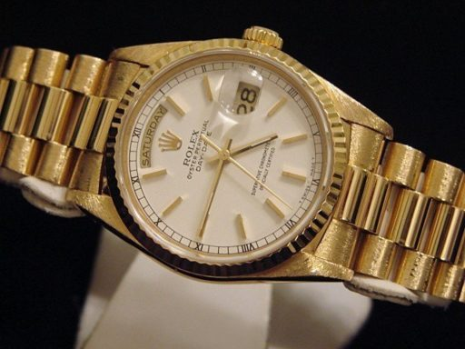 Rolex 18K Yellow Gold Day-Date President 18238 White -6