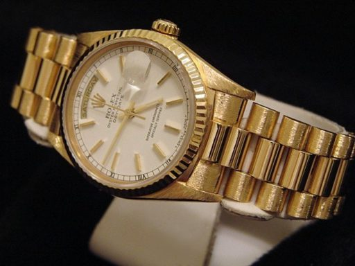 Rolex 18K Yellow Gold Day-Date President 18238 White -5