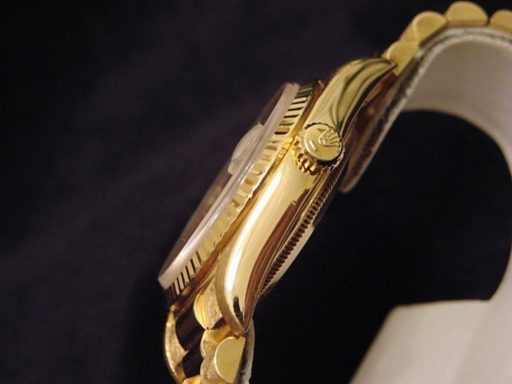Rolex 18K Yellow Gold Day-Date President 18238 White -3