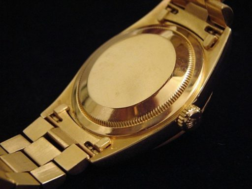 Rolex 18K Yellow Gold Day-Date President 18238 White -1