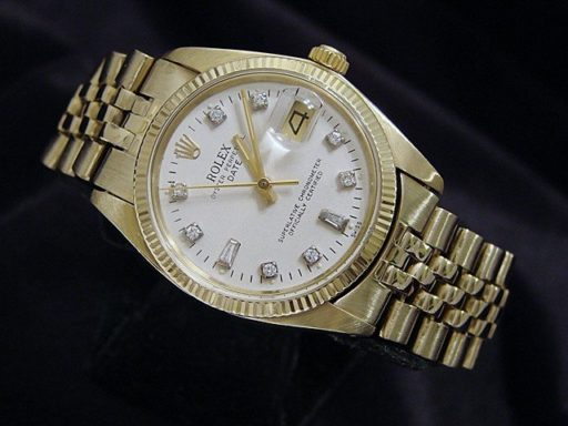 Rolex 14K Yellow Gold Date 1503 White Diamond-6