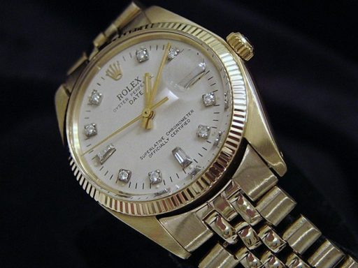 Rolex 14K Yellow Gold Date 1503 White Diamond-5