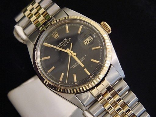 Rolex Two-Tone Datejust 1601 Black -5