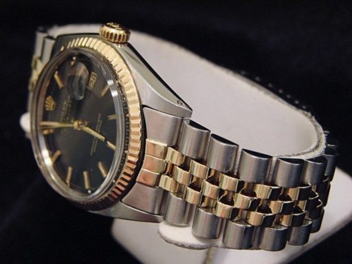 Rolex Two-Tone Datejust 1601 Black -4