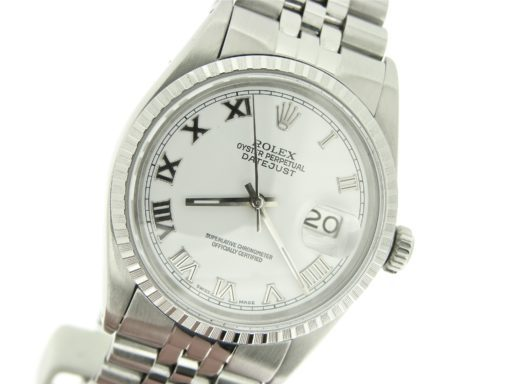 Rolex Stainless Steel Datejust 16030 White Roman-3