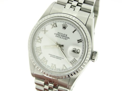 Rolex Stainless Steel Datejust 16030 White Roman-4
