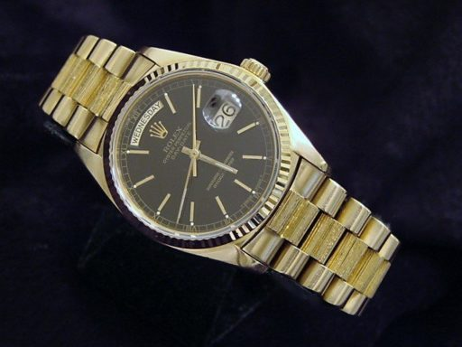 Rolex 18K Yellow Gold Day-Date President 18038 Black -5