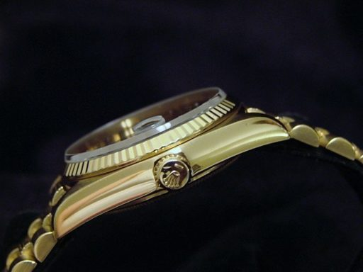 Rolex 18K Yellow Gold Day-Date President 18038 Black -3