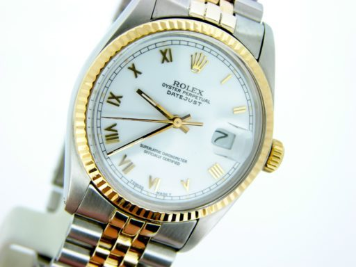 Rolex Two-Tone Datejust 16013 White Roman-5