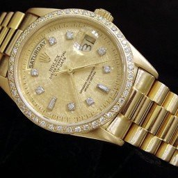 Mens Rolex 18K Gold Day-Date President Champagne Diamond 18038