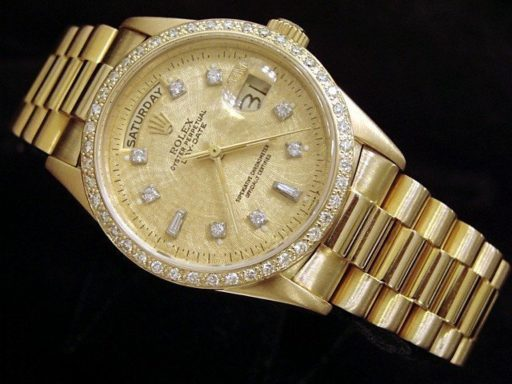Rolex 18K Yellow Gold Day-Date President 18038 Champagne Diamond-6