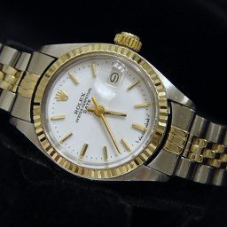 Ladies Rolex Two-Tone 14K/SS Date White  6917 (SKU 4021877MT)