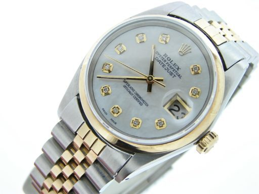 Rolex Two-Tone Datejust 16013 White Diamond-5