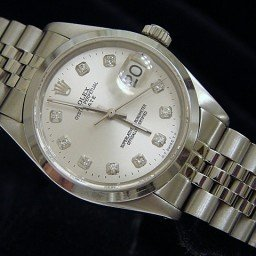 Mens Rolex Stainless Steel Date Silver Diamond 1500 (SKU 6272505MT)