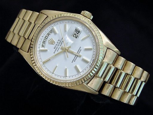 Rolex 18K Yellow Gold Day-Date President 1803 White -5