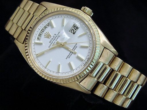 Rolex 18K Yellow Gold Day-Date President 1803 White -4