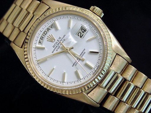 Rolex 18K Yellow Gold Day-Date President 1803 White -3