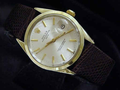 Rolex Gold Shell Date 1550 Silver-3