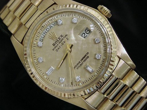 Rolex 18K Yellow Gold Day-Date President 1803 Champagne Diamond-5