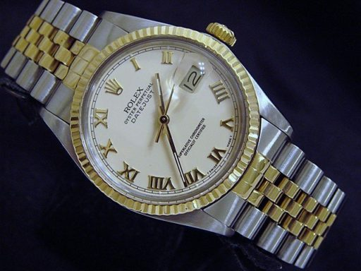 Rolex Two-Tone Datejust 16013 Ivory Roman-3