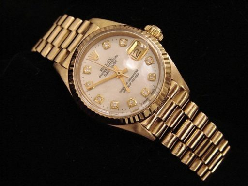 Rolex Yellow Gold Datejust President Diamond 6917 White-5
