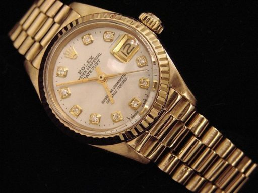 Rolex Yellow Gold Datejust President Diamond 6917 White-4